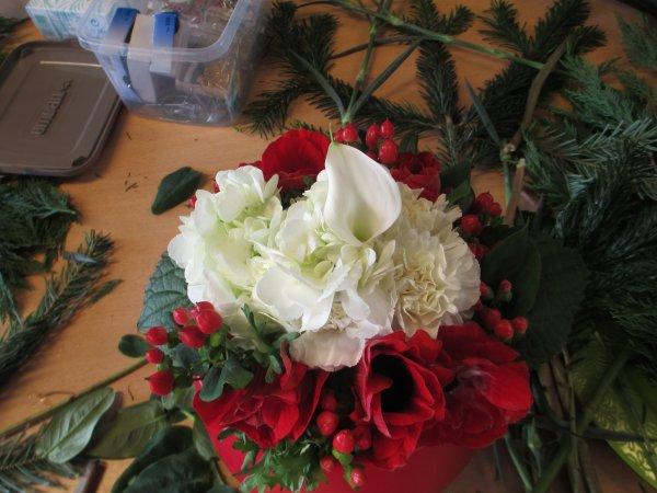 atelier floral du mois de décembre