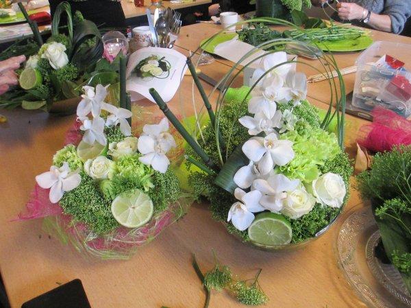 art floral du mois de février