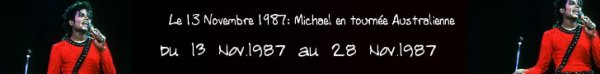 Le 13/11/1987 au 28/11/1987:  Bad World Tour date australienne