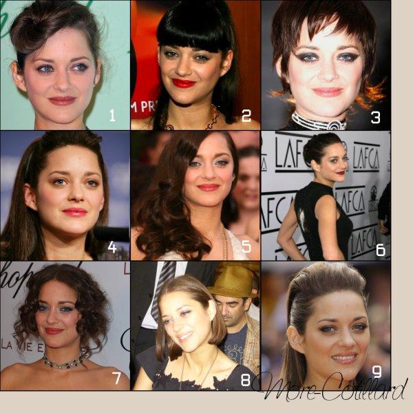.  Quelle coupe de cheveux de Marion préfères-tu ?.