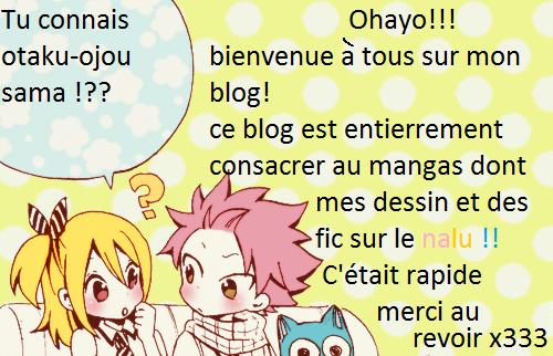 Bienvenue sur mon blog ^^ !!