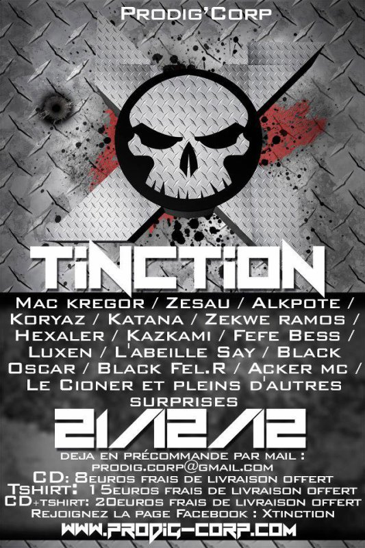 X.TINCTION / DISPO LE 06 AVRIL /