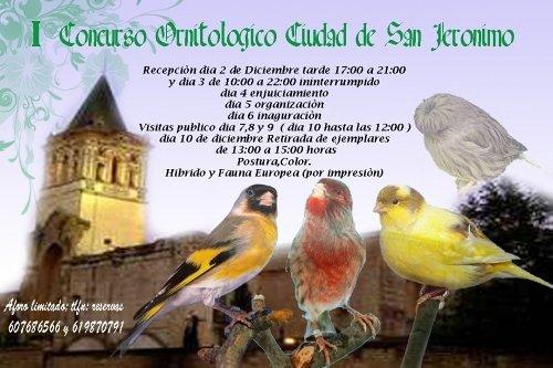 Primer Concurso de Ornitologia Ciudad De San Jeronimo en Sevilla