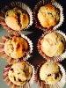 Muffins chocolat banane noix !