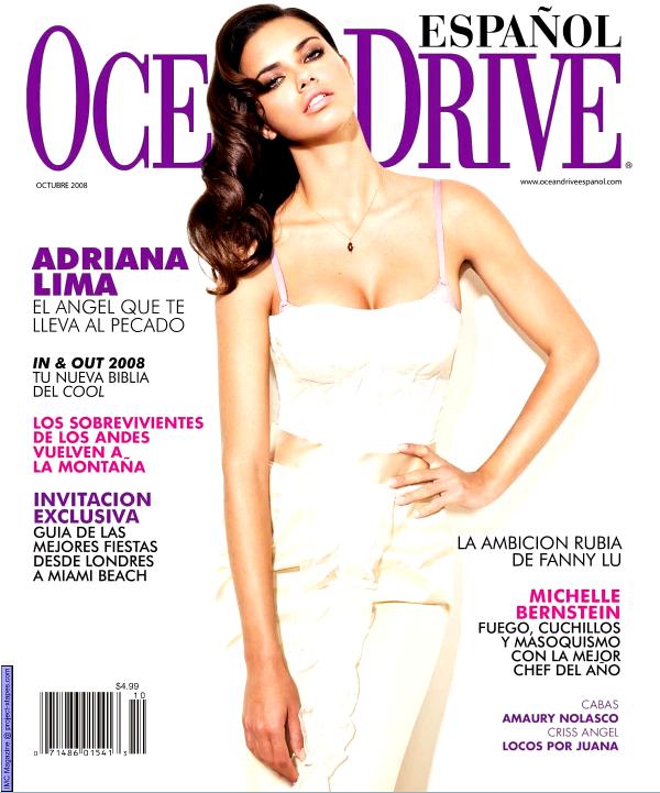 Adriana Lima - Ocean Drive Spain, november 2008