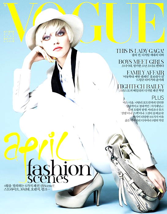 Sasha Pivovarova - Vogue Korea, april 2011