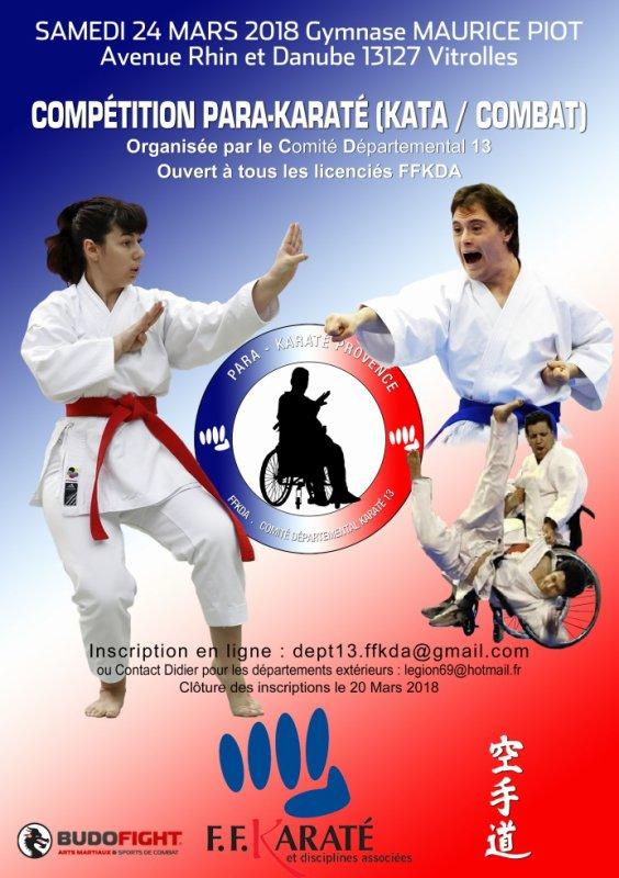 Compétition Para-Karaté (Katas - Combats)