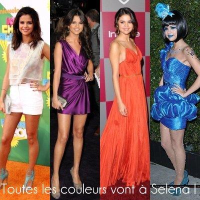 Zoom sur le look de Selena Gomez en 2011.