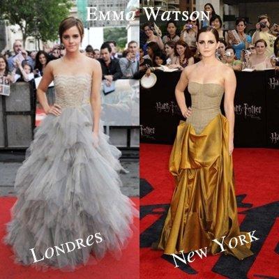Zoom sur les looks d'Emma Watson aux avants-premières d'Harry Potter 7 et les Reliques de la mort - Partie 2.