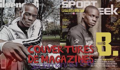 Ses Couvertures de Magazines : Seulement sur Stricker--Balotelli !