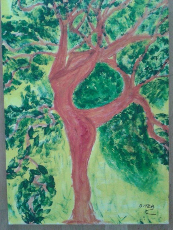 L'arbre transformé en danseuse.