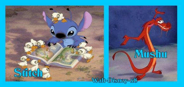 Stitch VS Mushu