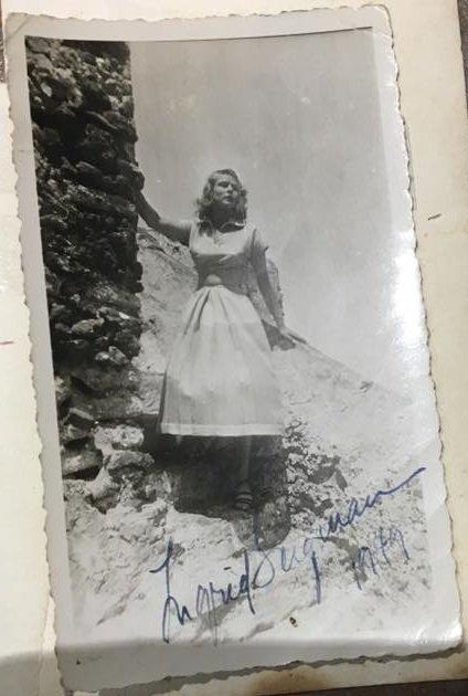 Irma La Bozzetta & Ingrid Bergman à Stromboli en 1949