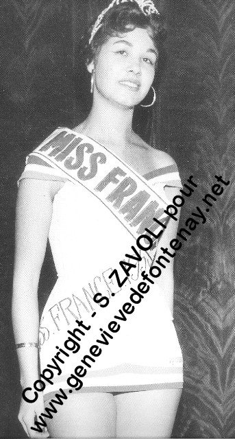 Maryse Fabre / Gisèle Charbit - Miss France 1956