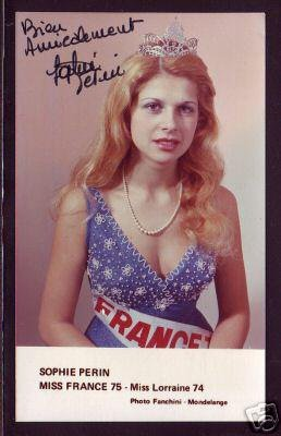 Sophie Perin - Miss France 1975