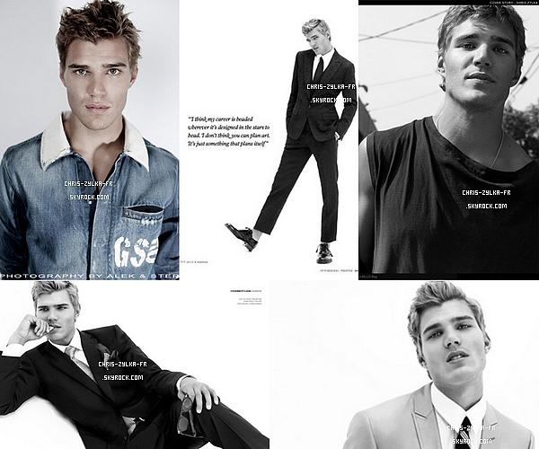 Chris pour les magazines Prestige et Bello Mag Octobre 2011,  tu aimes ?