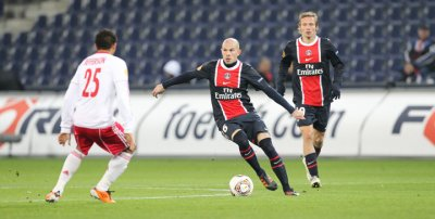 Salzburg 2-0 Paris SG 5ème journée du la phase de groupes de l'Europa League à 21h05 sur W9