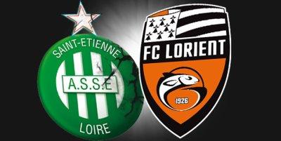 St-Etienne 4-2 FC Lorient 23ème journée de Ligue 1 à 19h00