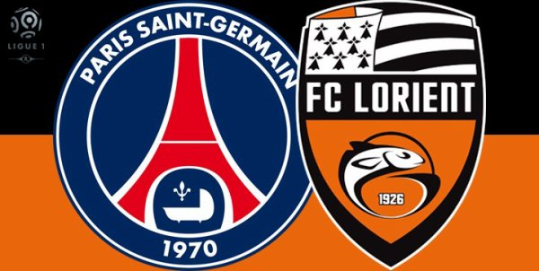 Paris SG contre FC Lorient 1ère journée de Ligue 1 à 21h00