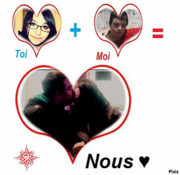 toi + moi = a nous <3