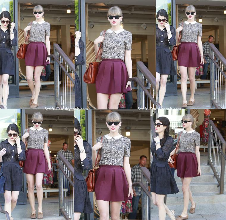 18.05.13 - Taylor était à Beverly Hills en train de faire du shopping avec une amie.