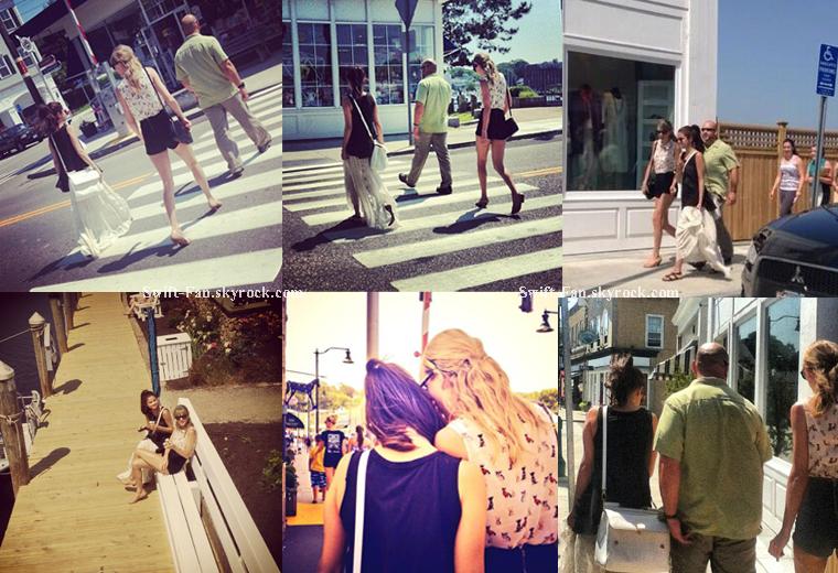 21.06.13 - Des fans ont pris des photos de Taylor et Selena Gomez à Mystic dans le Connecticut.