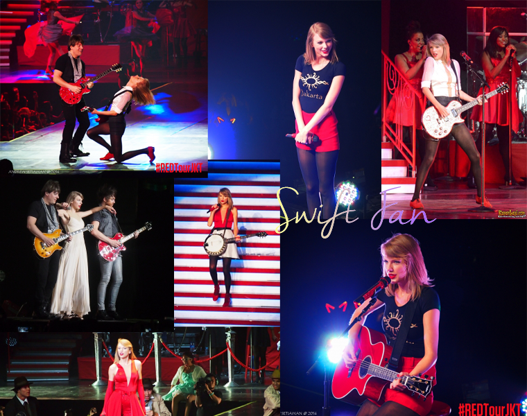 04/06/14 - Photoshoot . Candids . News . Twitter . Magazine . Soirée . Vidéo . Interview . Concert  . Red Tour - Jakarta (Indonésie). La chanson surprise était Fifteen.