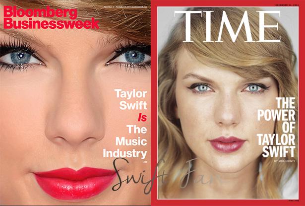 13/11/14 - Photoshoot . Candids . News . Twitter . Magazine . Soirée . Vidéo . Interview . Concert . Tumblr  . Taylor fait la couverture de deux nouveaux magazines: le Time et Bloomberg Businessweek.