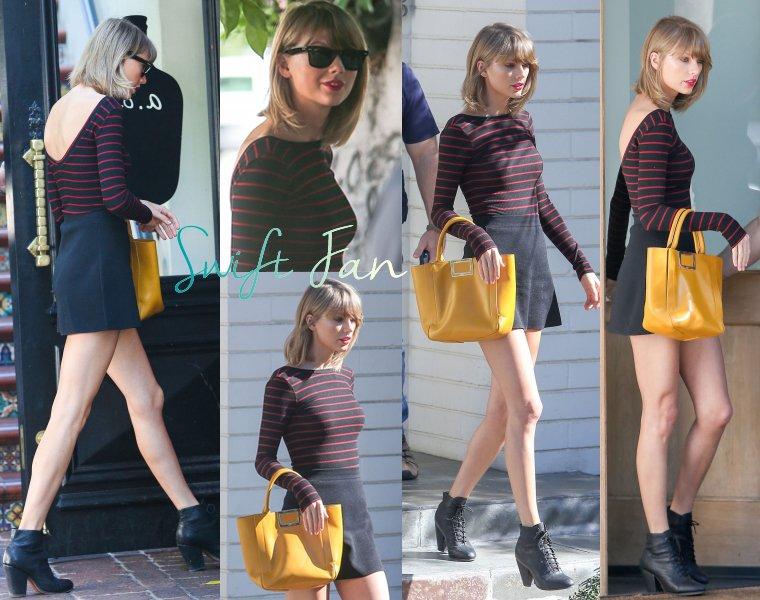 08/03/15 - Photoshoot . Candids . News . Twitter . Magazine . Soirée . Vidéo . Interview . Concert . Tumblr  . Taylor est en Californie, à Los Angeles. Elle a été déjeuner à Beverly Hills, puis rendre visite à sa mère dans sa maison.