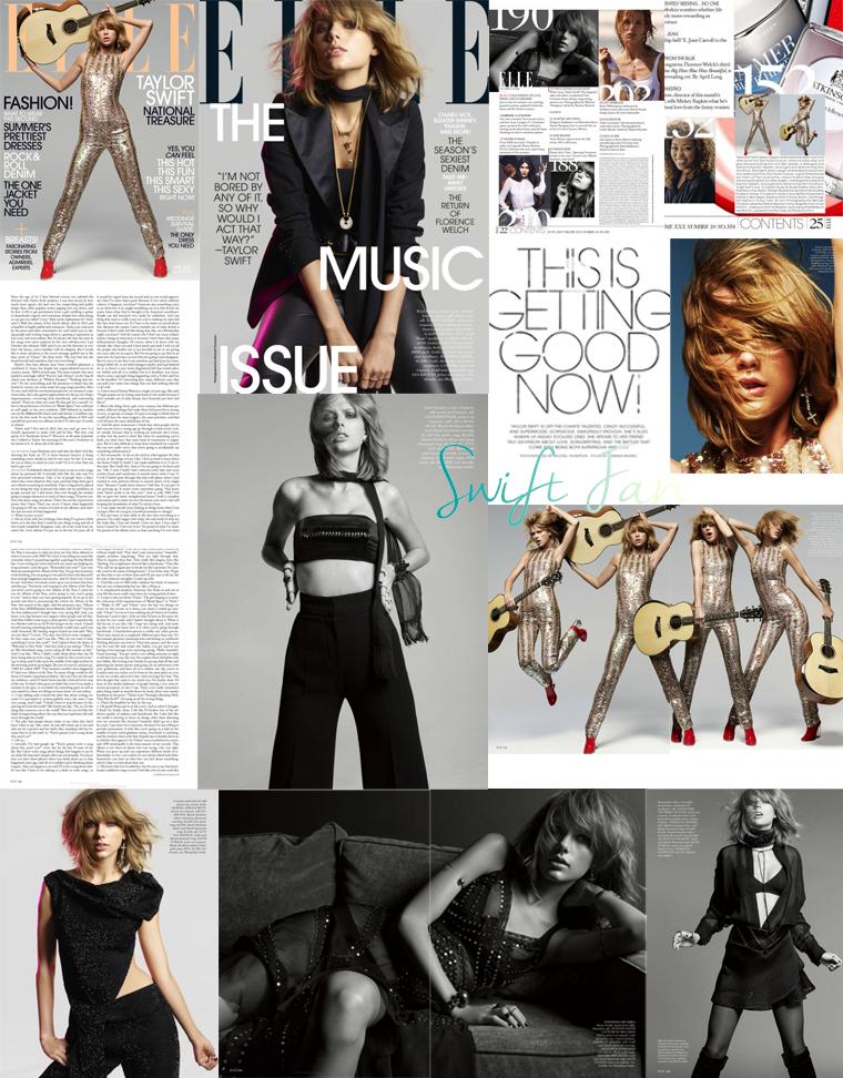 13/05/15 - Photoshoot . Candids . News . Twitter . Magazine . Soirée . Vidéo . Interview . Concert . Tumblr . Instagram . Découvrez les scans du magazine Elle US dont Taylor fait la couverture du mois de juin ainsi que de nouvelles photos.