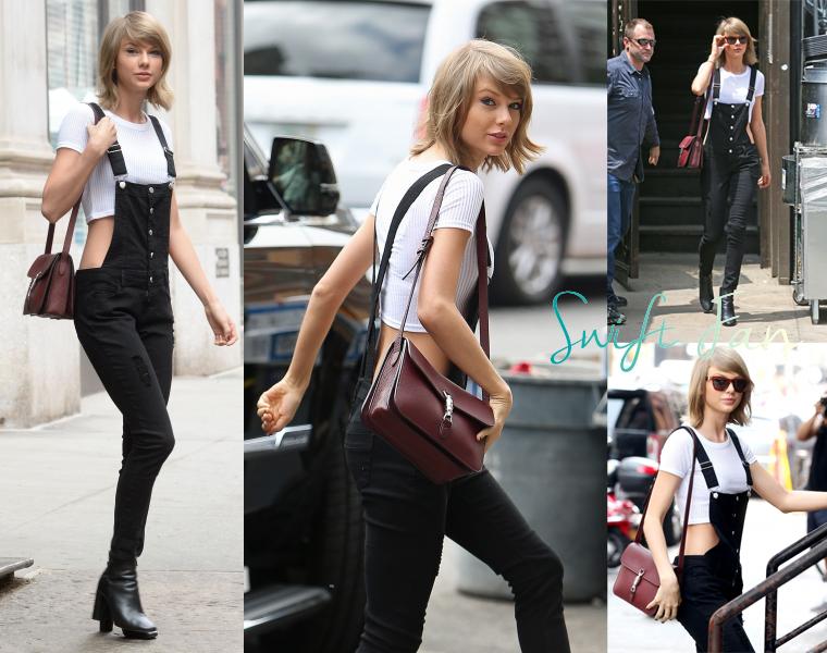28/05/15 - Photoshoot . Candids . News . Twitter . Magazine . Soirée . Vidéo . Interview . Concert . Tumblr . Instagram . Taylor s'est rendu à la gym. Plus tard, elle a quitté son appartement pour aller manger au Spotted Pig avec Calvin, toujours à New-York.