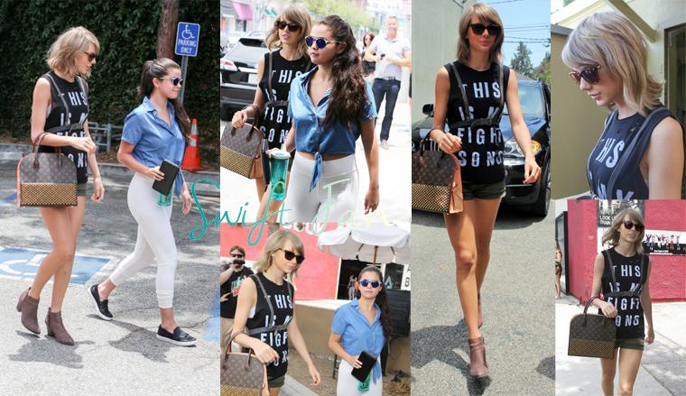 16/06/15 - Photoshoot . Candids . News . Twitter . Magazine . Soirée . Vidéo . Interview . Concert . Tumblr . Instagram . Taylor et Selena Gomez sont sortis déjeuner à West Hollywood.