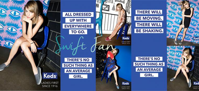 20/07/15 - Photoshoot . Candids . News . Twitter . Magazine . Soirée . Vidéo . Interview . Concert . Tumblr . Instagram . Taylor est l'image de la nouvelle campagne de Keds, Ladies First. A cette occasion, découvrez les nouvelles photos de la marque et les dernières publicité.