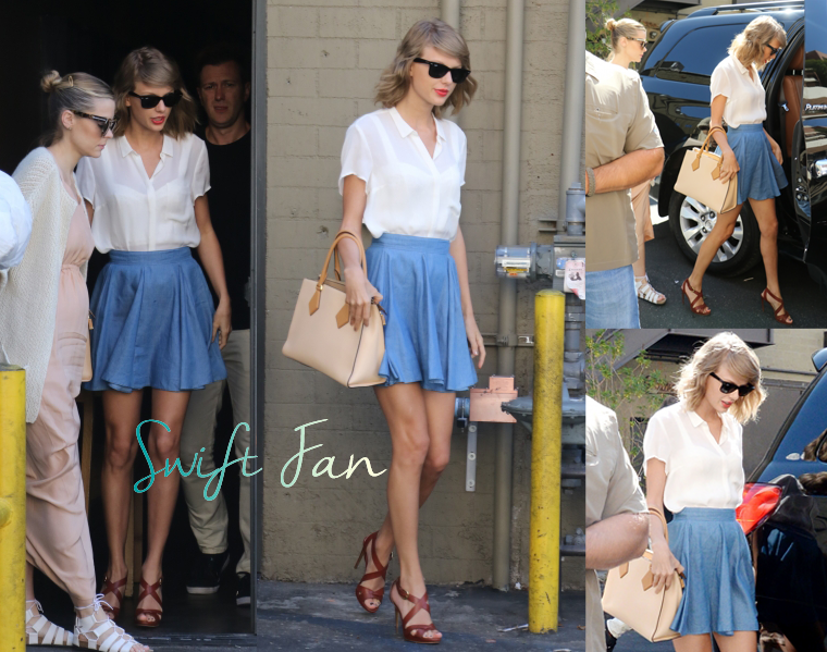 28/07/15 - Photoshoot . Candids . News . Twitter . Magazine . Soirée . Vidéo . Interview . Concert . Tumblr . Instagram . Taylor et Jaime King ont quitté le restaurant Sugarfish Sushi à Beverly Hills.