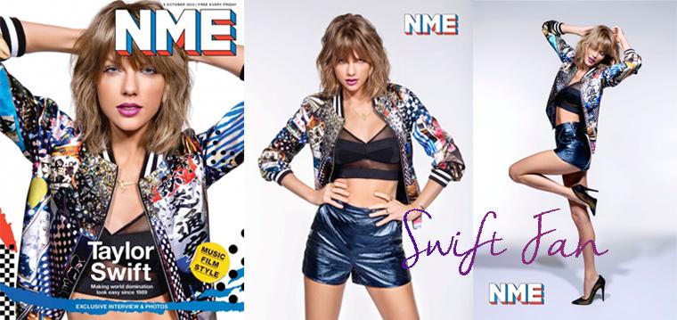 08/10/15 - Photoshoot . Candids . News . Twitter . Magazine . Soirée . Vidéo . Interview . Concert . Tumblr . Instagram . Taylor fait la couverture du magazine NME UK du 9 octobre 2015.