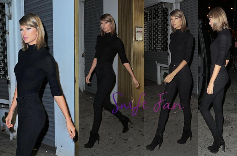 07/10/15 - Photoshoot . Candids . News . Twitter . Magazine . Soirée . Vidéo . Interview . Concert . Tumblr . Instagram . Taylor a été vue quittant les studios MSR à New York.