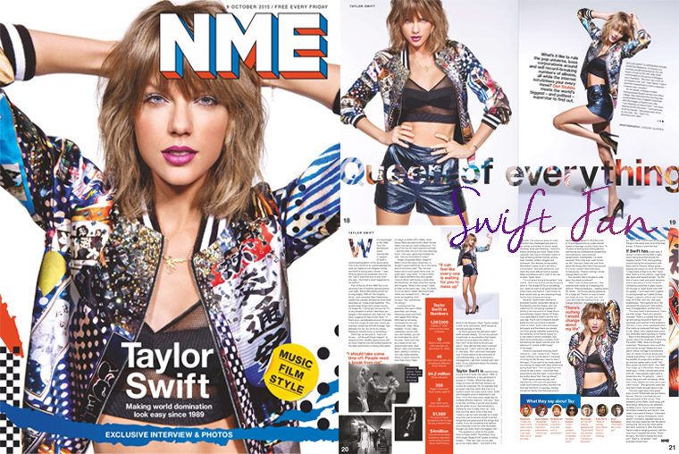 09/10/15 - Photoshoot . Candids . News . Twitter . Magazine . Soirée . Vidéo . Interview . Concert . Tumblr . Instagram . Le magazine NME a posté quatre photos de Taylor dans les backstages de sa tournée 1989 World Tour au Staples Center de Los Angeles.