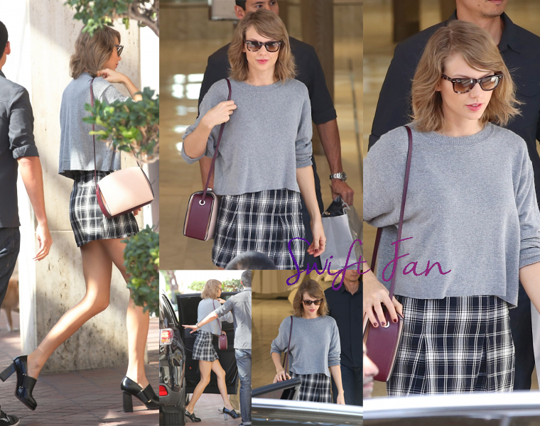 30/10/15 - Photoshoot . Candids . News . Twitter . Magazine . Soirée . Vidéo . Interview . Concert . Tumblr . Instagram . Taylor est sortie faire du shopping à Neiman Marcus à Beverly Hills, en Californie.