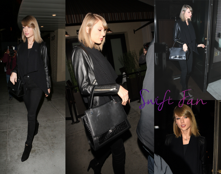 17/11/15 - Photoshoot . Candids . News . Twitter . Magazine . Soirée . Vidéo . Interview . Concert . Tumblr . Instagram . Taylor a quitté le restaurant The Palm à Beverly Hills (Los Angeles, USA).