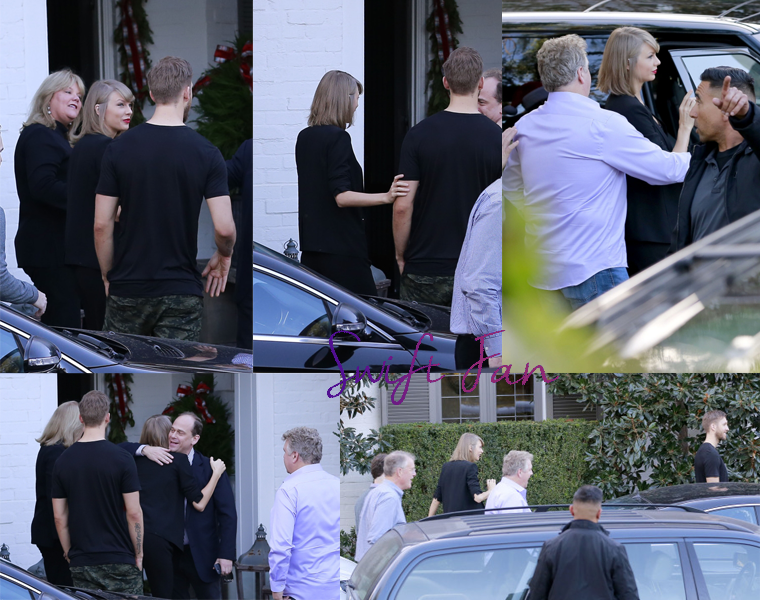 13/12/15 - Photoshoot . Candids . News . Twitter . Magazine . Soirée . Vidéo . Interview . Concert . Tumblr  . Taylor et Calvin Harris se sont rendus à une fête de Noël à Los Angeles, USA.