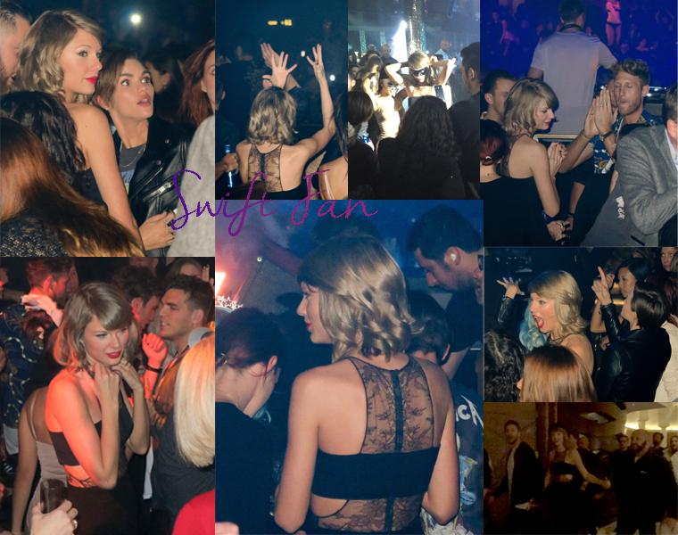 01/01/16 - Photoshoot . Candids . News . Twitter . Magazine . Soirée . Vidéo . Interview . Concert . Tumblr . Instagram . Taylor a passé la soirée du réveillon de la Saint Sylvestre à Las Vegas à l'Omnia Nightclub où Calvin Harris mixait.