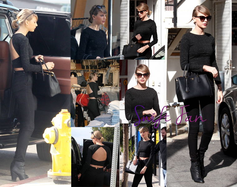15/01/16 - Photoshoot . Candids . News . Twitter . Magazine . Soirée . Vidéo . Interview . Concert . Tumblr . Instagram . Taylor a été faire du shopping dans Melrose Avenue à Los Angeles.