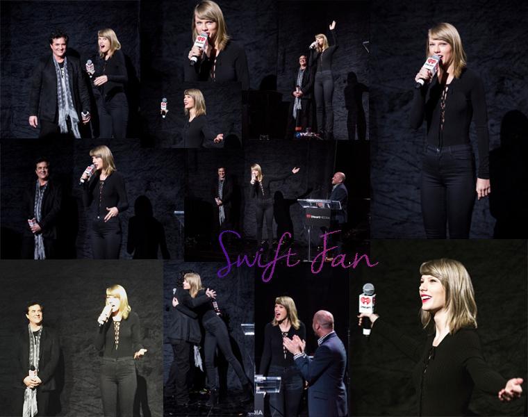 02/02/16 - Photoshoot . Candids . News . Twitter . Magazine . Soirée . Vidéo . Interview . Concert . Tumblr . Instagram . Taylor était au IHeartMedia Music Summit, une conférence de presse à Los Angeles.