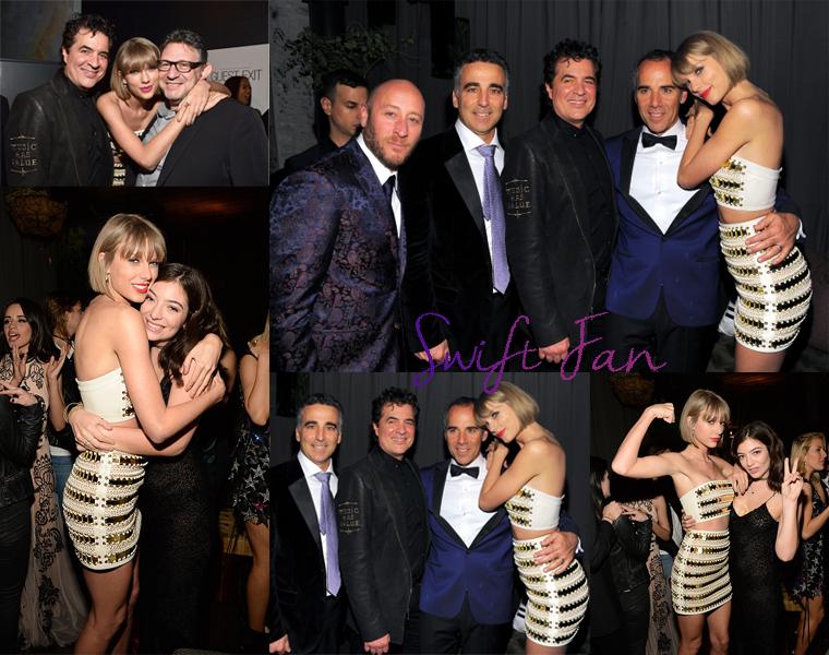 15/02/16 - Photoshoot . Candids . News . Twitter . Magazine . Soirée . Vidéo . Interview . Concert . Tumblr . Instagram . Taylor s'est rendu à la Republic Records Grammy Celebration dans le night club Hyde à West Hollywood, à Los Angeles.