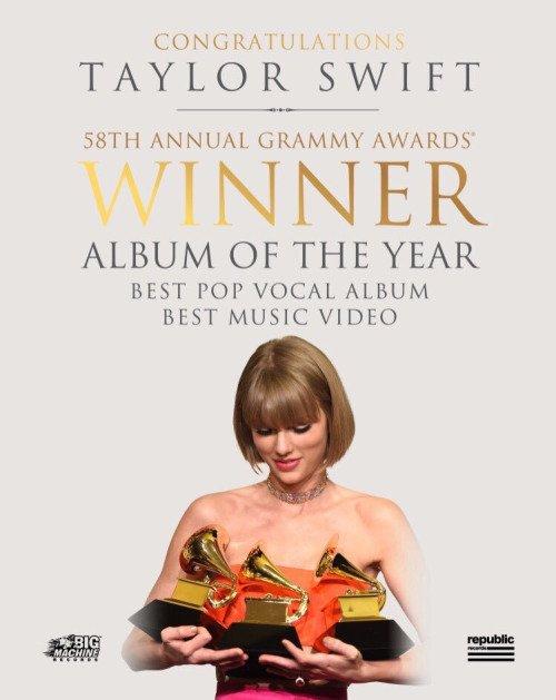 17/02/16 - Photoshoot . Candids . News . Twitter . Magazine . Soirée . Vidéo . Interview . Concert . Tumblr . Instagram . Taylor a gagné l'award de la Meilleure Artiste Solo Internationale aux NME Awards. Elle a réalisé une vidéo pour accepter le prix.