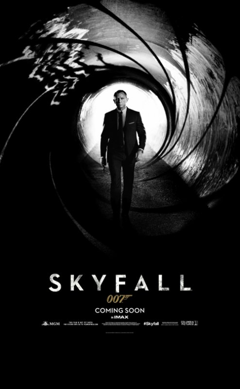 JAMES  BOND  007 :  AFFICHE  TEASER  DE  SKYFALL