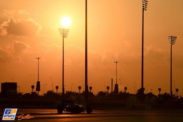 FORMULE 1 : GRAND PRIX D' ABU DHABI , LA GRILLE DE DEPART