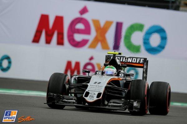 FORMULE 1 : GRAND PRIX DU MEXIQUE A MEXICO , LA GRILLE DE DEPART