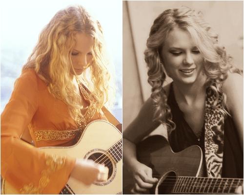 Taylor Swift et la guitare au fil des années
