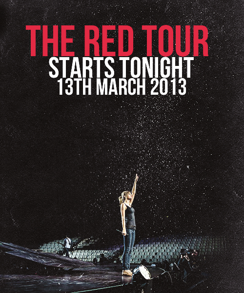 Welcome to the Red Tour ♥